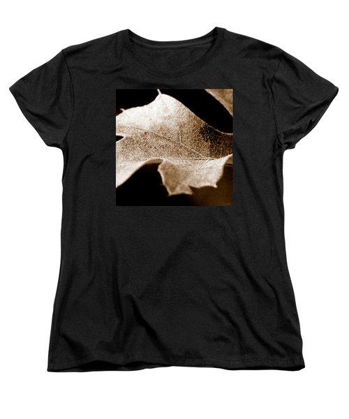 Women's T-Shirt (Standard Cut) featuring the photograph Leaf Collage 1 by Lauren Radke