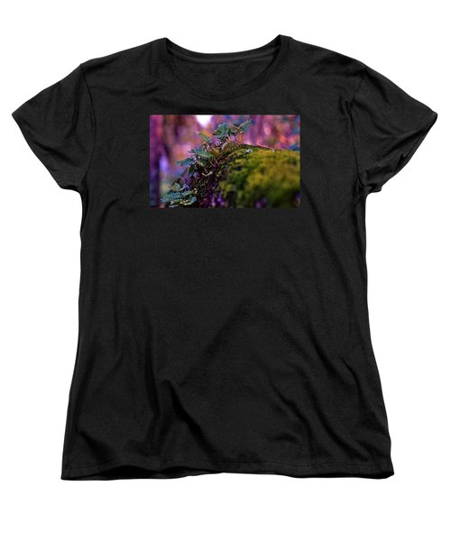Leaves On A Log Women's T-Shirt (Standard Cut)