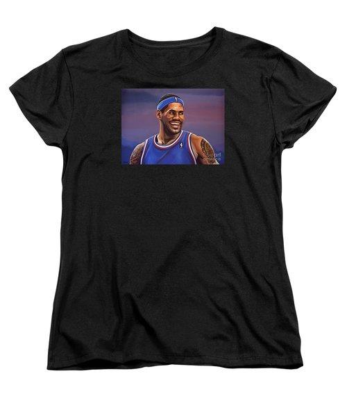 Lebron James  Women's T-Shirt (Standard Cut) by Paul Meijering