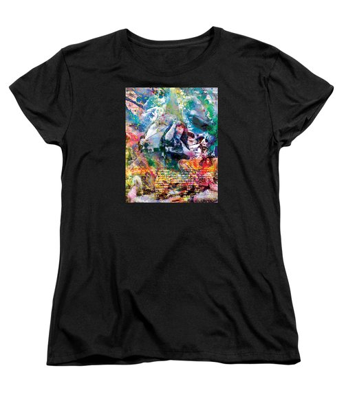 Led Zeppelin Original Painting Print  Women's T-Shirt (Standard Cut) by Ryan Rock Artist