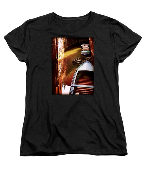 Women's T-Shirt (Standard Cut) featuring the photograph Legata Nel Canale by Micki Findlay