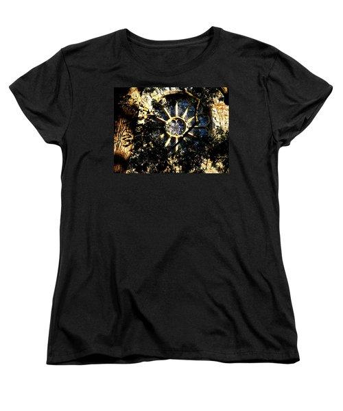 Women's T-Shirt (Standard Cut) featuring the photograph Lehigh University Bethlehem Packer Memorial Chapel Window by Jacqueline M Lewis