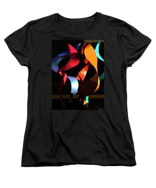 Women's T-Shirt (Standard Cut) featuring the photograph Lehigh University Cerrulli Sculpture by Jacqueline M Lewis