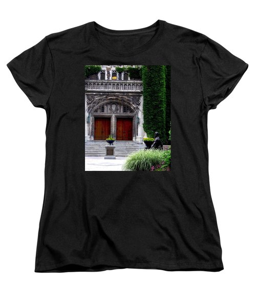 Lehigh University Leadership Plaza Bethlehem Pa Women's T-Shirt (Standard Cut) by Jacqueline M Lewis