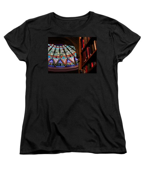 Women's T-Shirt (Standard Cut) featuring the photograph Lehigh University Linderman Library Books by Jacqueline M Lewis
