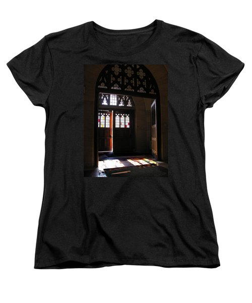 Lehigh University Linderman Library Entrance Women's T-Shirt (Standard Cut) by Jacqueline M Lewis