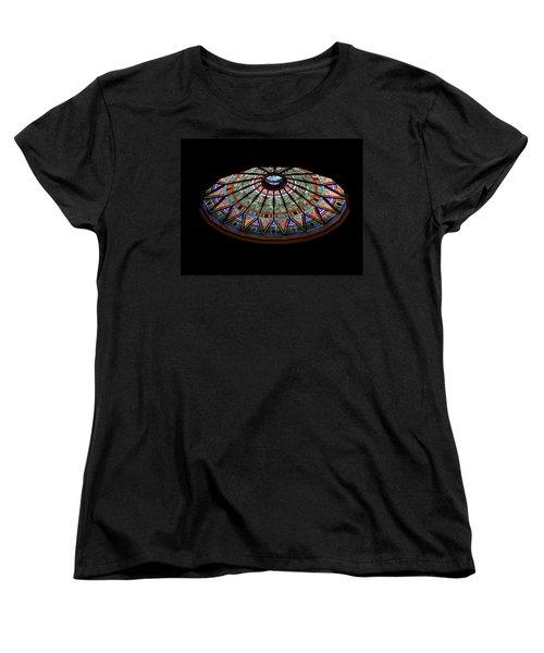Women's T-Shirt (Standard Cut) featuring the photograph Lehigh University Linderman Library Rotunda Window by Jacqueline M Lewis