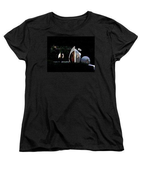 Women's T-Shirt (Standard Cut) featuring the photograph Abstract Of Lehigh University Mart Science And Engineering Library by Jacqueline M Lewis