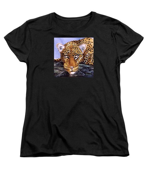 Leopard In A Tree Women's T-Shirt (Standard Cut) by Thomas J Herring