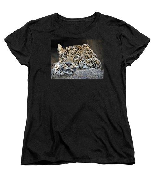 Women's T-Shirt (Standard Cut) featuring the photograph Leopard by Savannah Gibbs