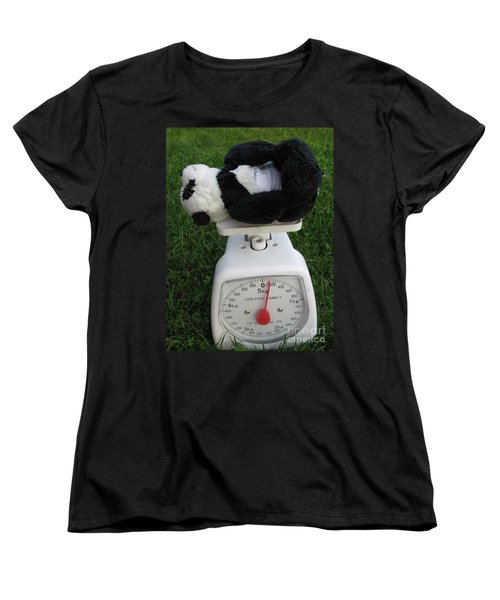 Women's T-Shirt (Standard Cut) featuring the photograph Let's Check My Weight Now by Ausra Huntington nee Paulauskaite