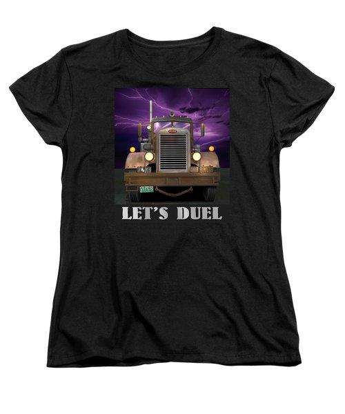 Let's Duel Women's T-Shirt (Standard Cut) by Stuart Swartz