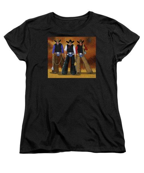 Let's Ride Women's T-Shirt (Standard Cut) by Lance Headlee