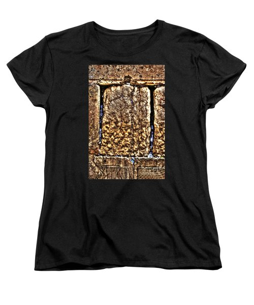 Women's T-Shirt (Standard Cut) featuring the photograph Letters In The Wailing Wall by Doc Braham