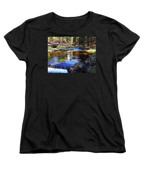 Life By A Babbling Brook Women's T-Shirt (Standard Cut) by Natalie Ortiz