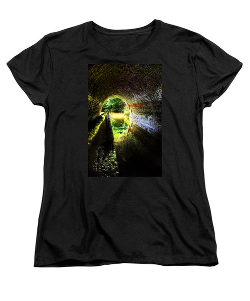 Light At The End Of The Tunnel Women's T-Shirt (Standard Cut) by Meirion Matthias