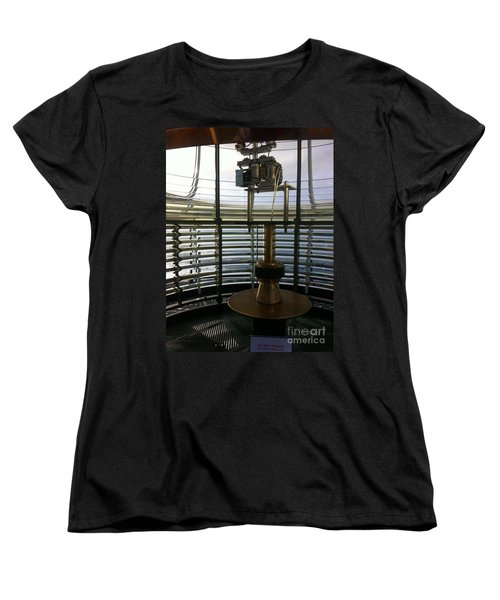 Women's T-Shirt (Standard Cut) featuring the photograph Light House Lamp by Susan Garren