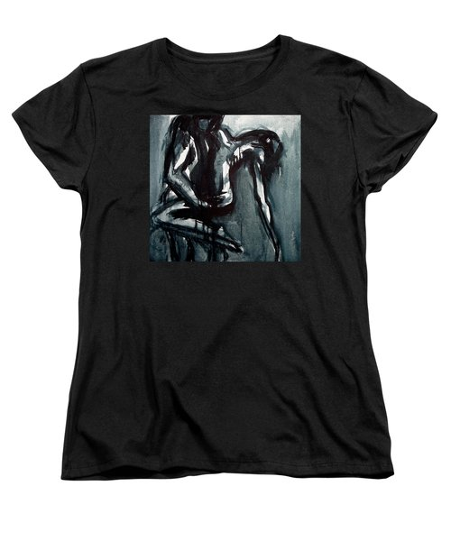 Women's T-Shirt (Standard Cut) featuring the painting Light In The Darkness by Jarmo Korhonen aka Jarko