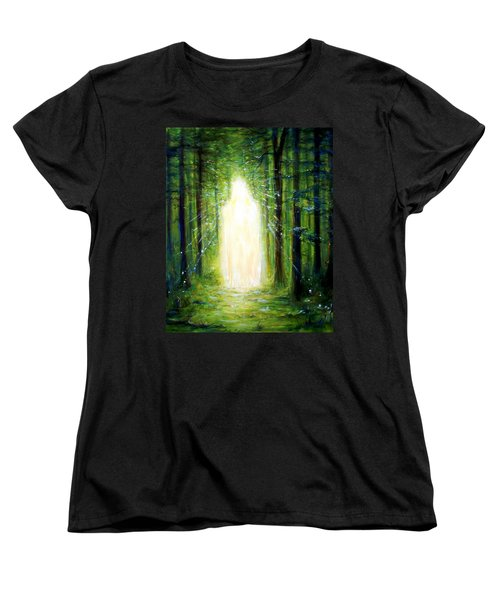 Women's T-Shirt (Standard Cut) featuring the painting Light In The Garden by Heather Calderon