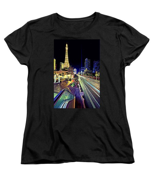 Light Speed Vegas Women's T-Shirt (Standard Cut) by Matt Helm