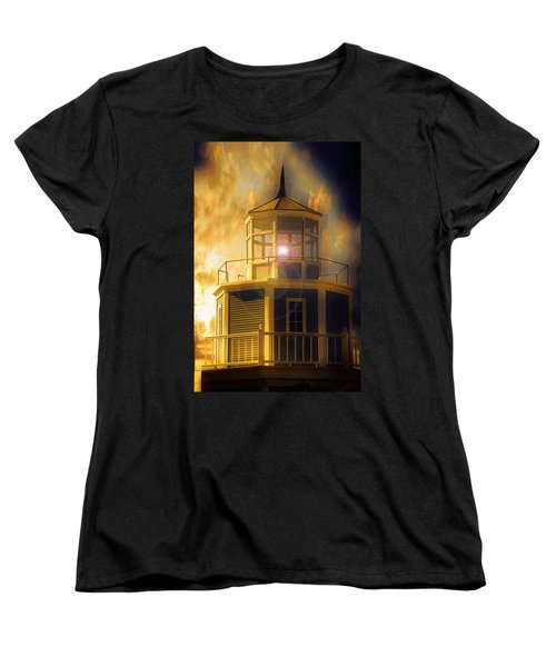 Ocean Women's T-Shirt (Standard Cut) featuring the photograph Lighthouse  by Aaron Berg