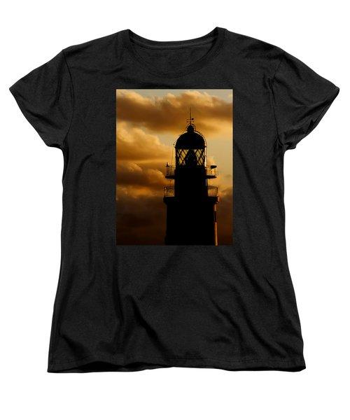lighthouse dawn in the north coast of Menorca Women's T-Shirt (Standard Cut) by Pedro Cardona