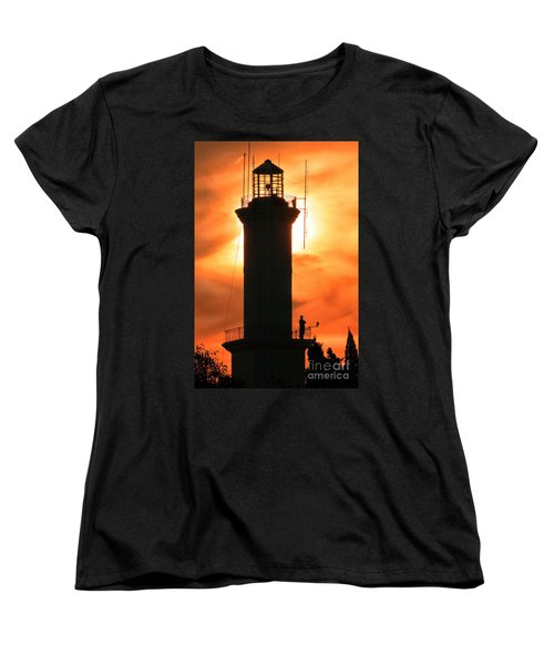 Women's T-Shirt (Standard Cut) featuring the photograph Lighthouse I by Bernardo Galmarini
