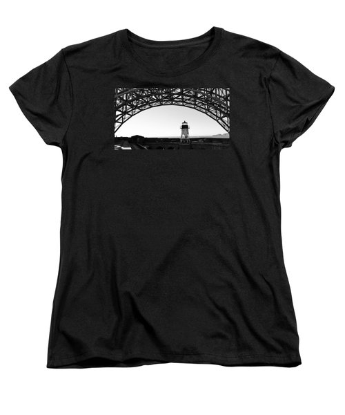 Lighthouse Under Golden Gate Women's T-Shirt (Standard Cut) by Holly Blunkall
