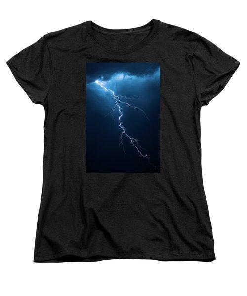 Lightning With Cloudscape Women's T-Shirt (Standard Cut) by Johan Swanepoel