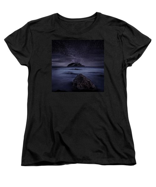 Lights Of The Past Women's T-Shirt (Standard Cut) by Jorge Maia