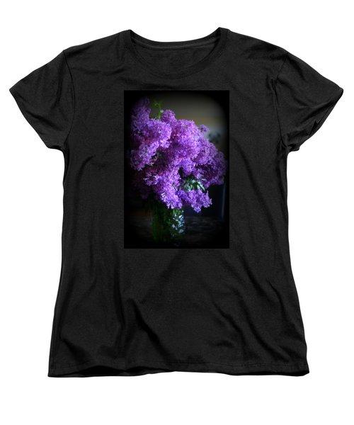 Lilac Bouquet Women's T-Shirt (Standard Cut) by Kay Novy