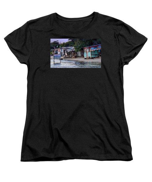 Liliput Craft Village And Bar Women's T-Shirt (Standard Cut) by Lilliana Mendez