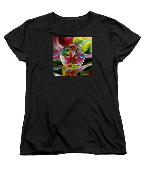 Women's T-Shirt (Standard Cut) featuring the painting Lillium Bulbiferum by Robin Moline