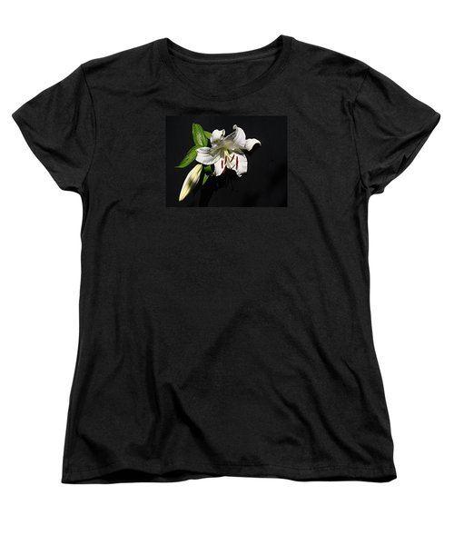 Women's T-Shirt (Standard Cut) featuring the photograph Lily At Daybreak by Nick Kloepping