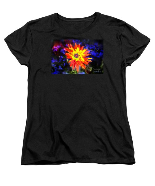 Lily In Vivd Colors Women's T-Shirt (Standard Cut) by Gunter Nezhoda