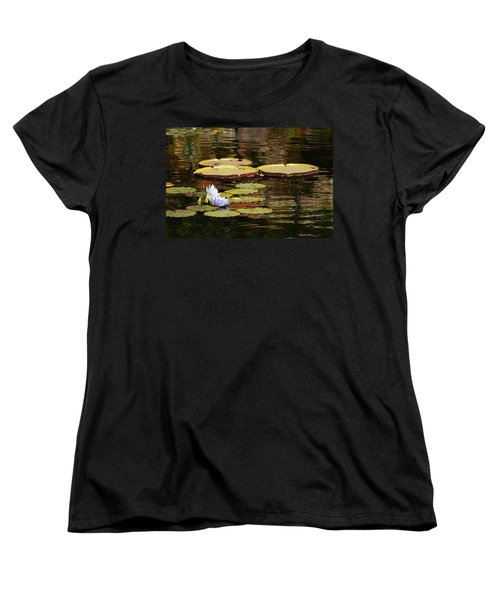 Women's T-Shirt (Standard Cut) featuring the photograph Lily Pad by Kathy Churchman