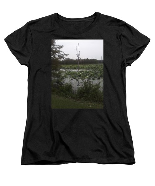 Women's T-Shirt (Standard Cut) featuring the photograph Lily Pads by Fortunate Findings Shirley Dickerson
