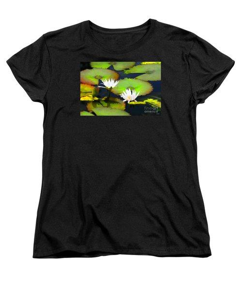 Lily Pond Bristol Rhode Island Women's T-Shirt (Standard Cut) by Tom Prendergast