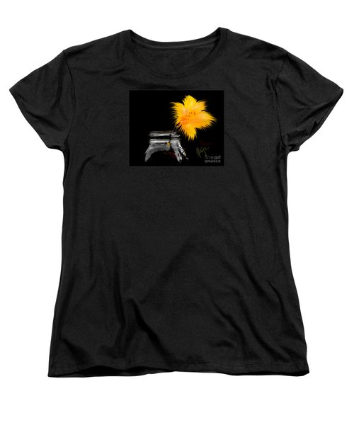 Women's T-Shirt (Standard Cut) featuring the photograph Lily Yellow by Chris Fraser