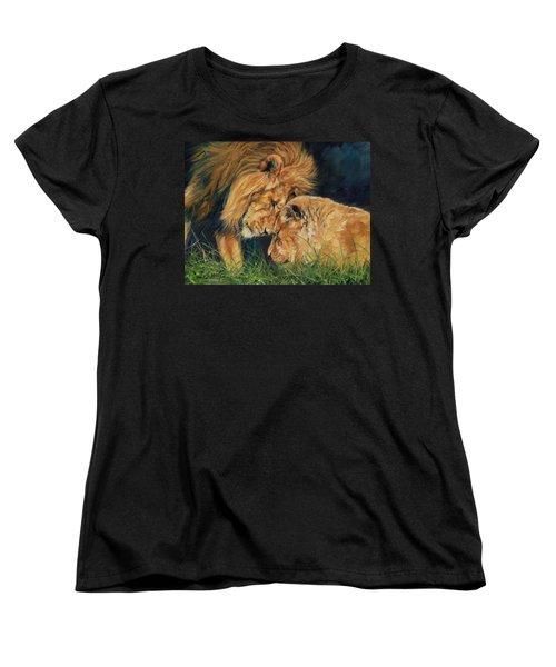 Lion  Love Women's T-Shirt (Standard Cut)