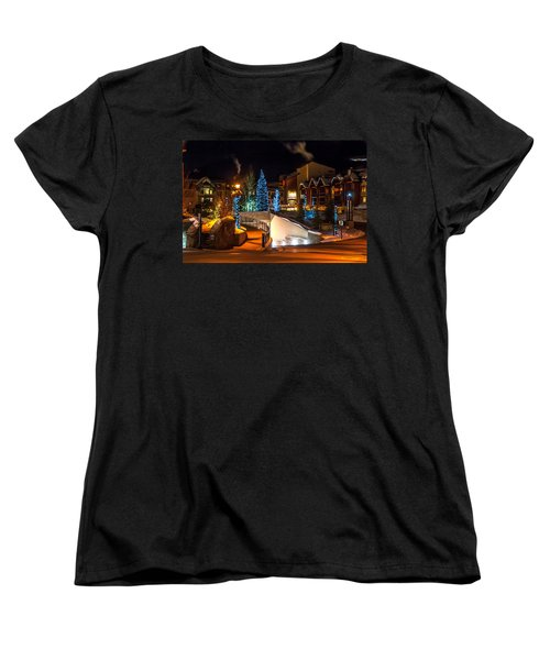 Lions Head Village Vail Colorado Women's T-Shirt (Standard Cut) by Brenda Jacobs