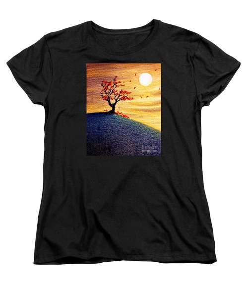 Little Autumn Tree Women's T-Shirt (Standard Cut) by Danielle R T Haney