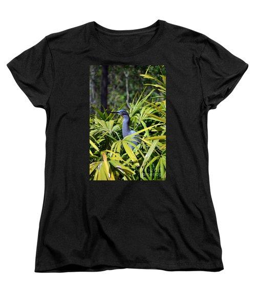 Women's T-Shirt (Standard Cut) featuring the photograph Little Blue Heron by Robert Meanor