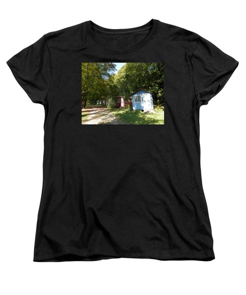 Little Cabins Women's T-Shirt (Standard Cut) by Pema Hou