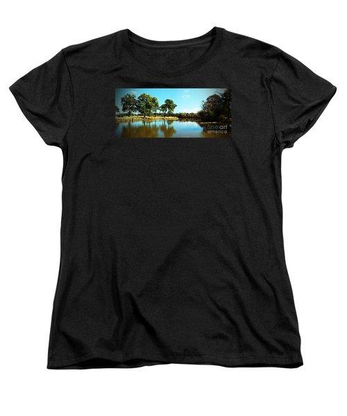 Women's T-Shirt (Standard Cut) featuring the photograph Little Creek by Angela DeFrias