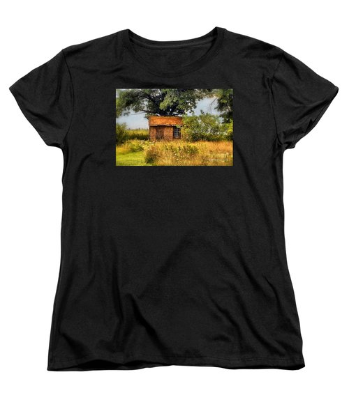 Women's T-Shirt (Standard Cut) featuring the photograph Little House On The Prairie by Peggy Franz