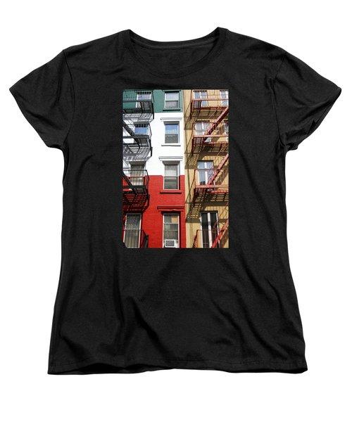 Little Italy. Women's T-Shirt (Standard Cut) by Menachem Ganon