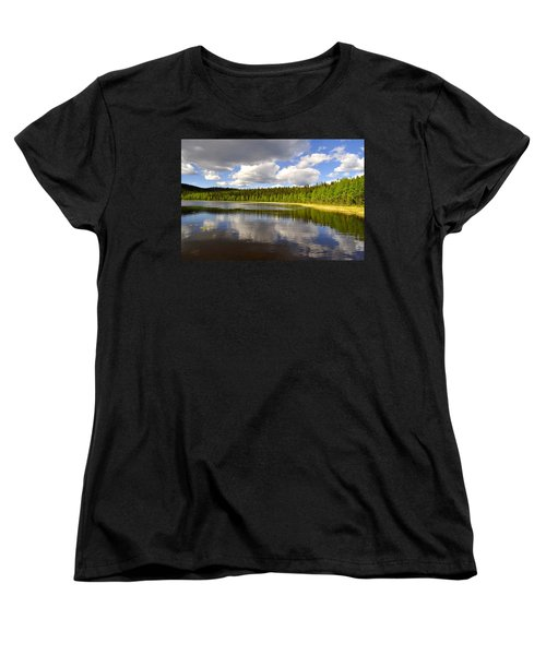 Women's T-Shirt (Standard Cut) featuring the photograph Little Lost Lake by Cathy Mahnke