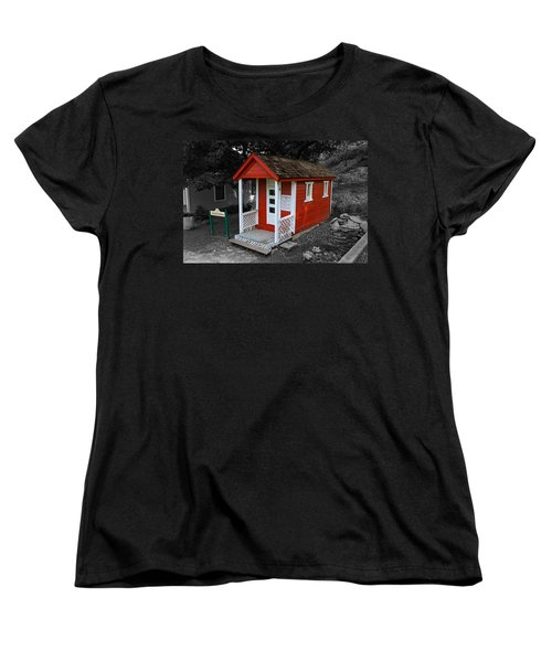 Little Red School House Women's T-Shirt (Standard Cut) by Richard J Cassato