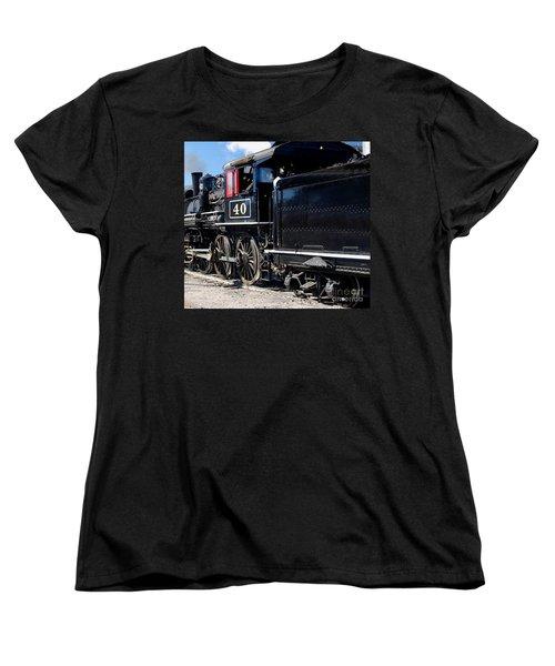 Women's T-Shirt (Standard Cut) featuring the photograph Locomotive With Tender by Gunter Nezhoda